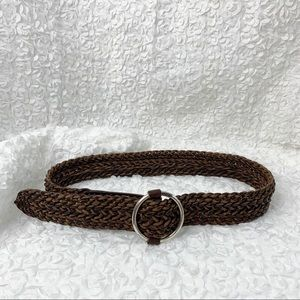 Accessories - Boho Braided Distressed Leather Belt XL